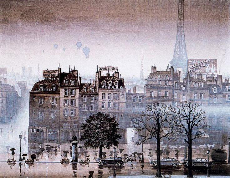 Rainy Day, sérigraphie de Hiro Yamagata