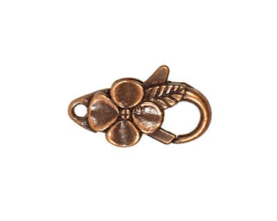 Antique Copper (plated) Floral Lobster Clasp