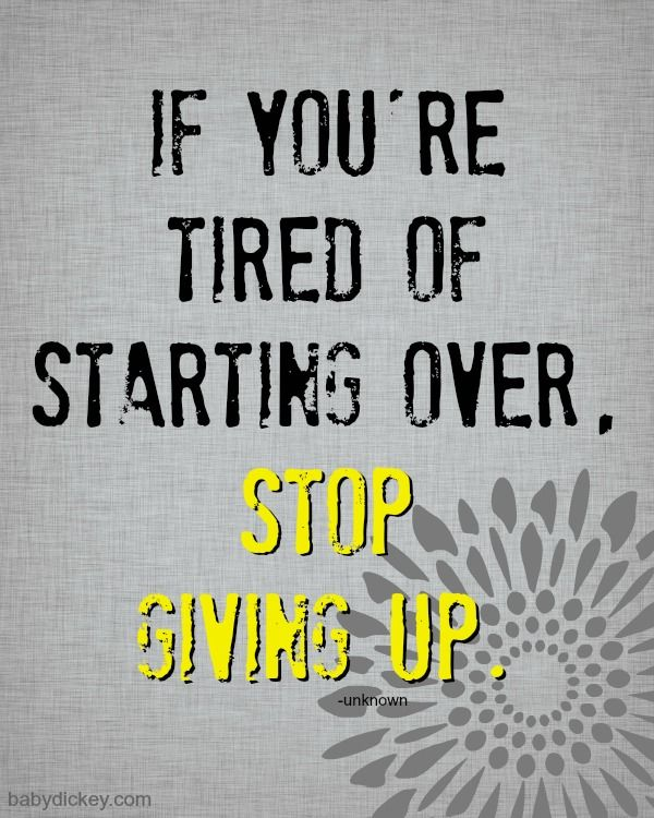 Stop giving up (motivational quotes) Let my workout eBooks guide you on charlottewinslow.com ❤️