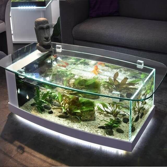 Top 40 Amazing Aquarium Coffee Table Design Ideas Engineering Discoveries Akvaryumlar Akvaryum Dekorasyon Fikirleri Living room table fish tank
