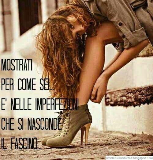 Fascino=imperfezione =charme