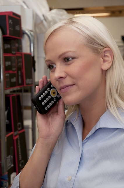 Making a phone call with a Nordic ID Morphic UHF RFID, Nordic ID Morphic UHF RFID Cross Dipole or the Nordic ID Morphic. Could be a price check, stock room check or any other in-house call in a store or between outlets. Ideal device for retail.