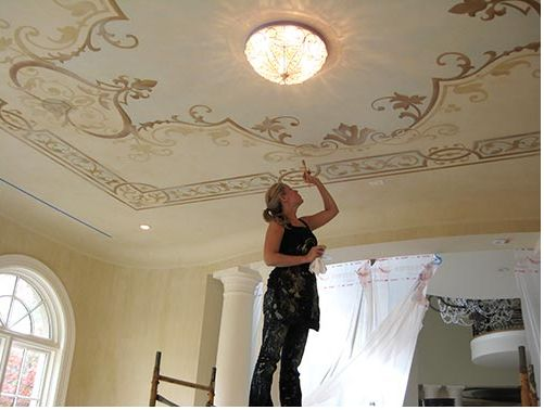 Downton Abbey Style Decorative Painting Painted Ceilings