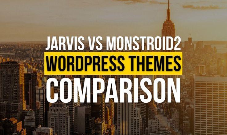 Jarvis Parallax WordPress Theme VS Monstroid2 Multipurpose WP Theme