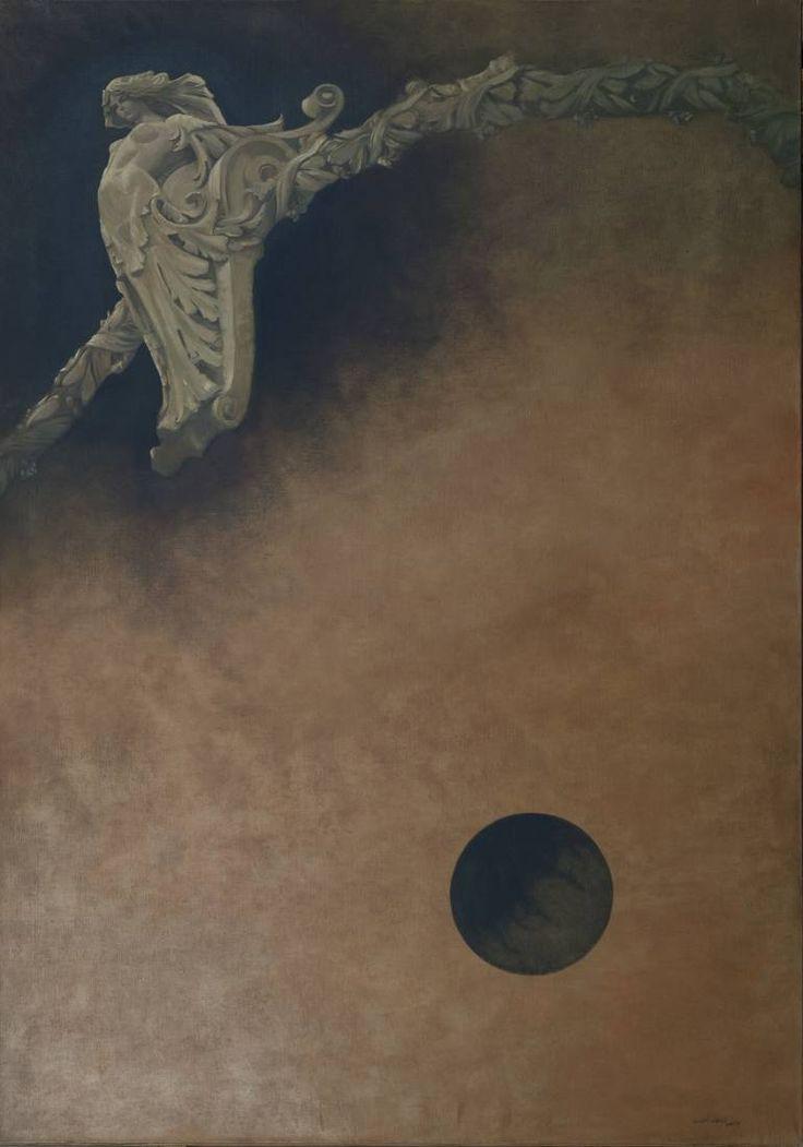 "Saatchi Art Artist Juan Manuel Álvarez Cebrián; Painting, ""Levitación con punto de apoyo. /  Fulcrum Levitation"" #art"