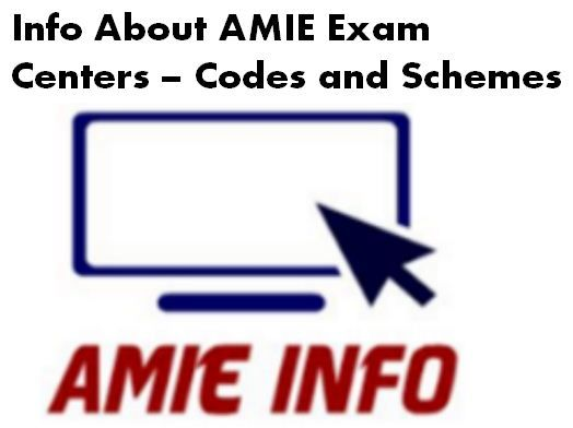 The Institution of Engineers India is the oldest and the largest professional engineering body in India which conduct AMIE Exam across India with its large network of state and local centres in India. below is the list of Exam centre with Continue reading   Info About AMIE Exam Centres – Codes and Schemes→
