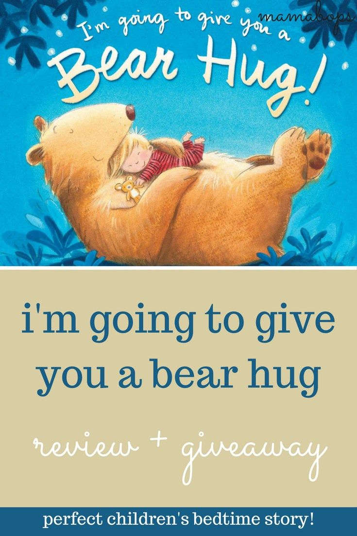 """I'm Going to Give You a Bear Hug"" Review + Giveaway! This children's book is a perfect bedtime story for little ones. I love reading it to my son while he acts out all the different types of hugs in the book! Written by Caroline B. Cooney and illustrated by Tim Warnes. Enter to win your hardcover copy today!"