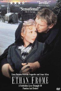 Ethan Frome (1993) Based on Edith Wharton's novel.  Liam Neeson plays the title character wonderfully.  Surprising ending.