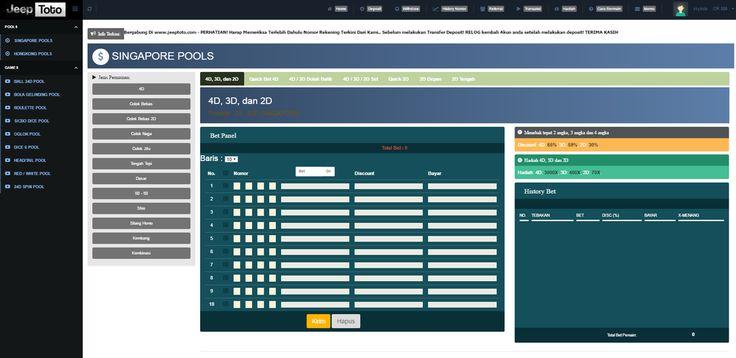 Jeeptoto.com situs agen togel online singapore pools terpercaya di indonesia
