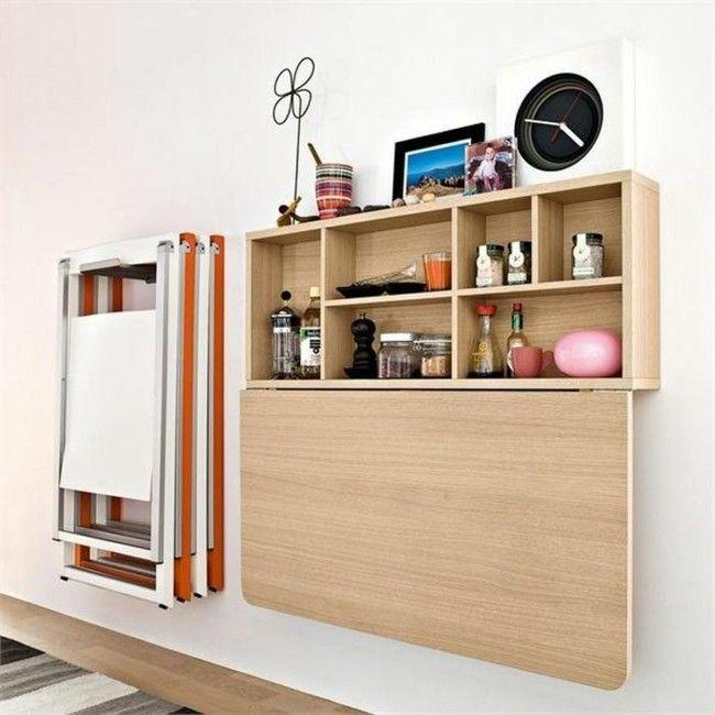 So Sieht Die Clevere Raumgestaltung Mit Multifunktionalem Wandtisch Aus Klappschreibtisch Wandtisch Klapptisch Mit Regal