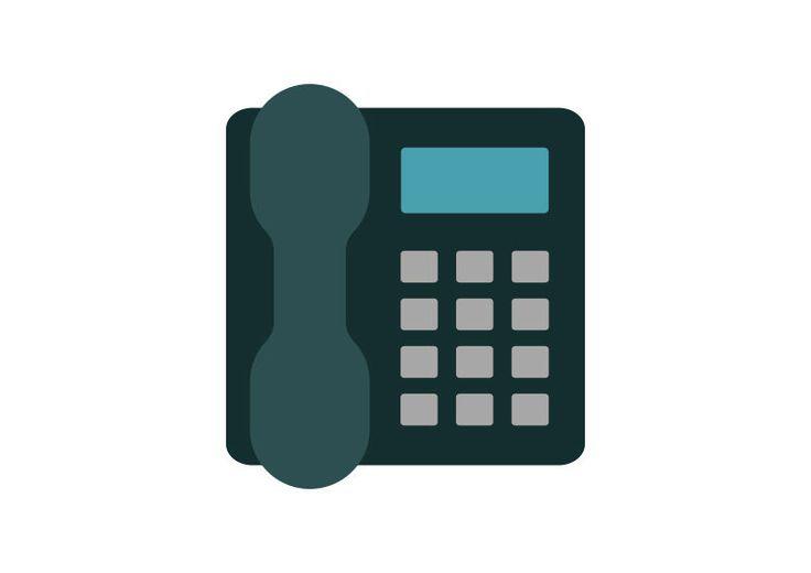 Landline Phone Flat Vector Icon