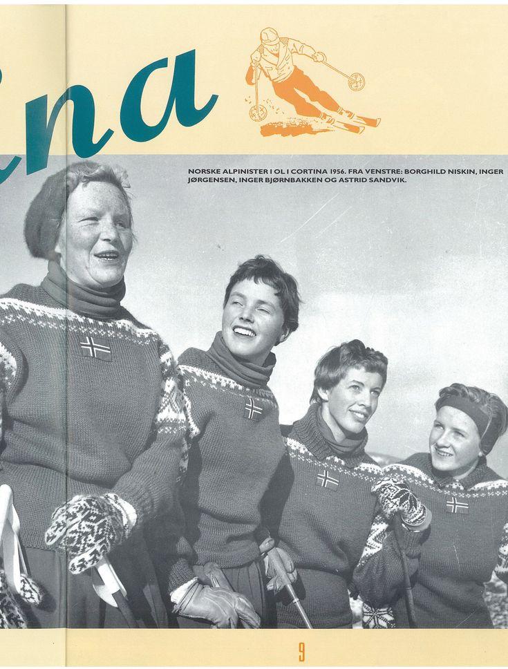 #DaleGarn Free Download Patterns DG32_DaleCortina 1956 Olympic Games