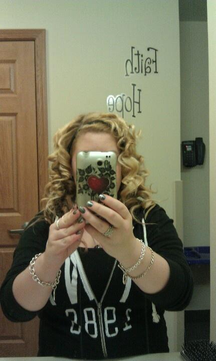 Tin foil curls :)