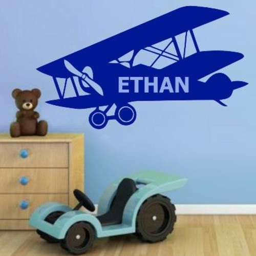 VINYL DECAL PERSONALISED PLANE WALL ART STICKER