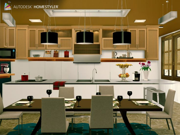 """Check out my #interiordesign """"Kitchen"""" from #Homestyler http://autode.sk/1f3I54b"""