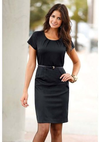 Šaty s ozdobnými záhybmi #littleblackdress #dress #style #modino_sk #modino_style #fashion #elegance #style #clothing