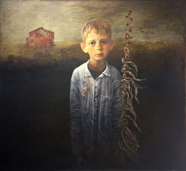 """""""Outpost"""" by Igor Melnikov, 2016. // son las búsquedas por emular a través de retratos, estos brincos de las emociones humanas que viajan a través de una iconografía de la fragilidad. // arte contemporáneo, pintura, contemporary art, artwork, oil painting."""