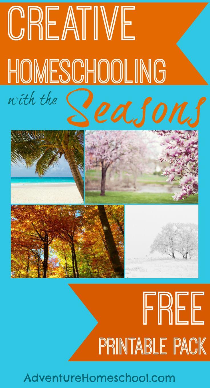 Creative Homeschooling With the Seasons #freebies #printables #homeschool #holidays #creativelearning #kbnmoms