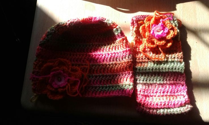 Hat and earwarmer for my granddaughter Mia