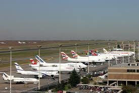Johannesburg International Airport. South Africa. Spent many hours here and a few in a hotel then returned here for many more hours before flying to JFK.
