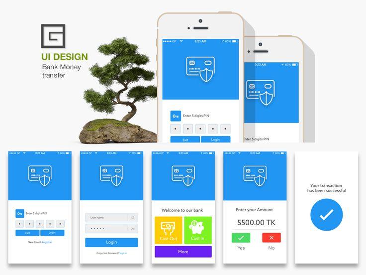Bank Money Transfer UI Kit Design...