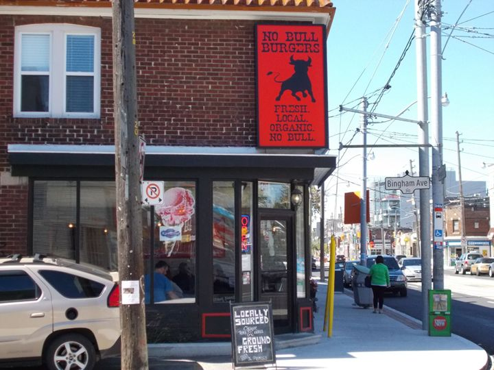 No Bull Burgers - cute store front, disappointing food. Click the pic for the full review. #restaurant #food #poutine