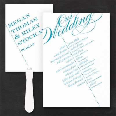 Go With This Modern Wedding Program Fan Your Ceremony Details At A Fun Angle Choose The Personalization Color And It S Custom