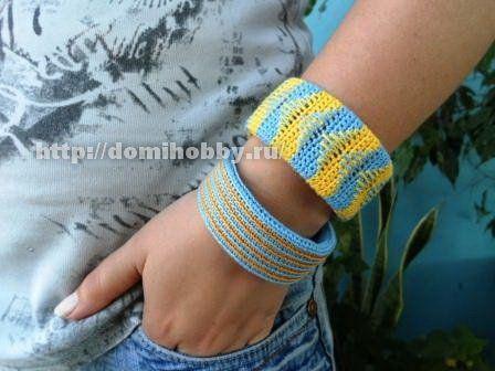 Вязание крючком браслетов