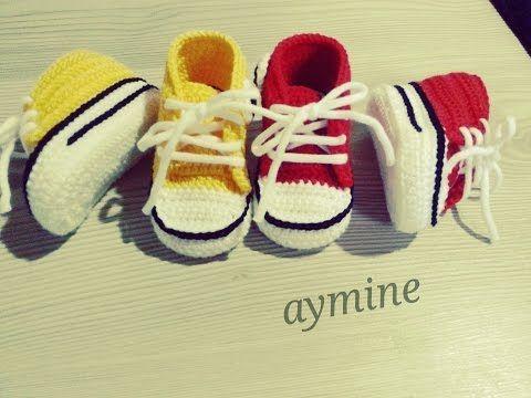 Converse Bebek Patiği Yapımı 1 part - YouTube