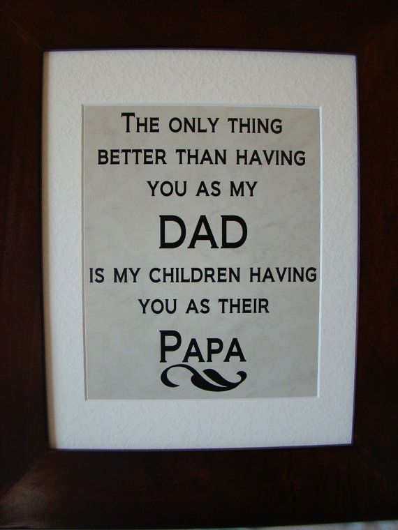 Dad  Papa  Printed verse  wall art  Dad gift  by SweetBohemianLife, $15.00