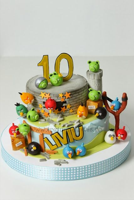 1000 images about angry birds dorty on pinterest for Angry birds cake decoration kit