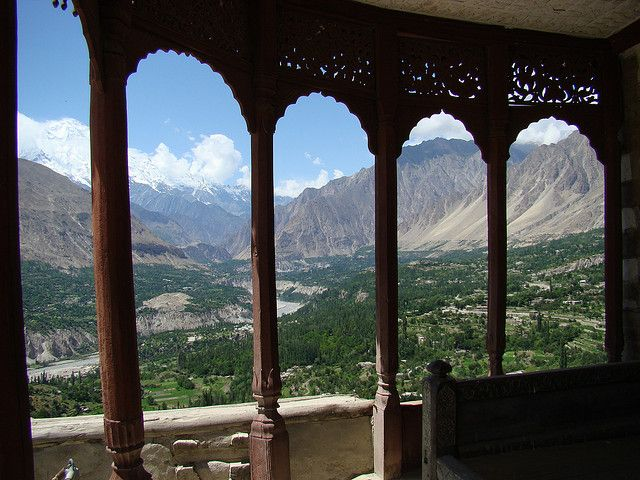 View of Hunza from Baltit Fort - Hunza Valley- Northern Area - Pakistan