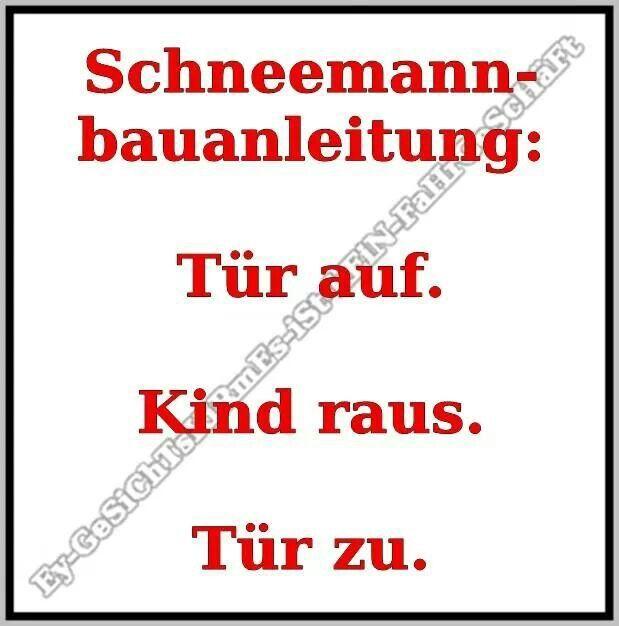 Schneemann-Bauanleitung