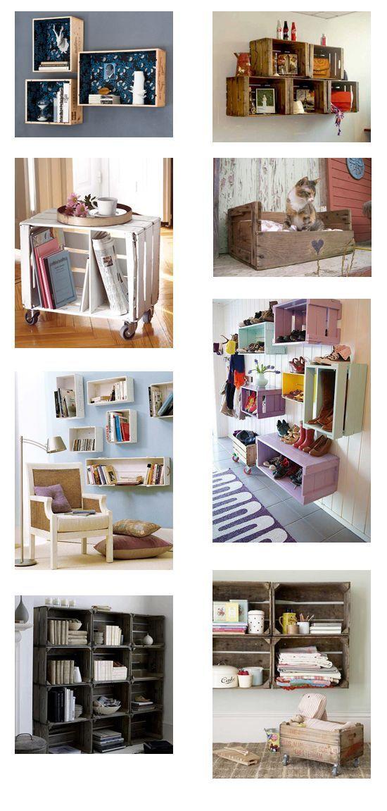 Organízate con cajas recicladas