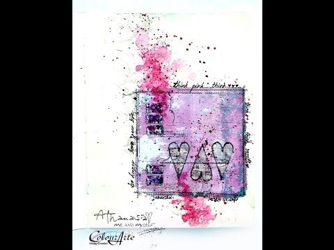 Think Pink - art journaling with Vivids, Radiant Gels and H2Os for Colou...