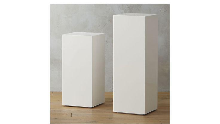 city slicker pedestal tables | CB2