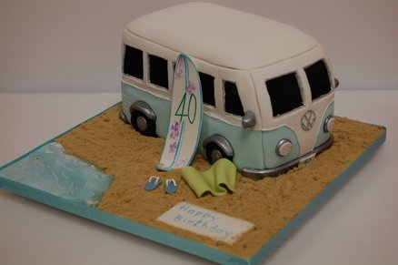 VW campervan  Cake by Bowbutterfly