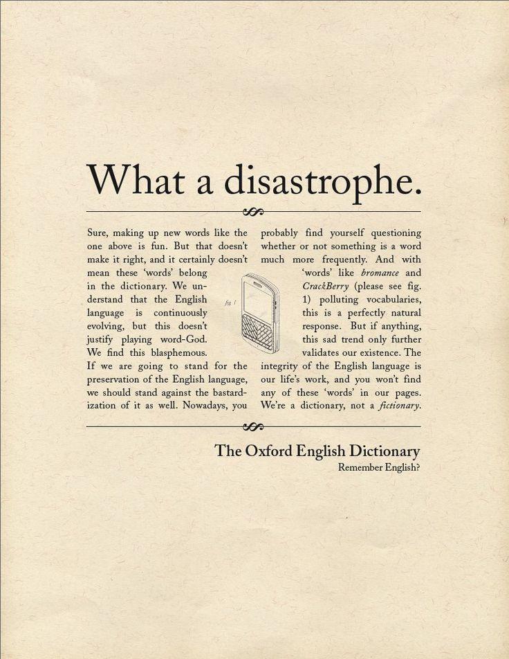 The Oxford English Dictionary Copy ads, Copywriting ads
