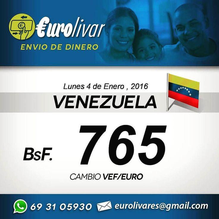 Un saludo y feliz 2016.. Este es el tipo de cambio para enviar dinero a Venezuela hoy Lunes 4 de Enero del 2016. Para que envíes dinero a tus familiares o mantengas al día tus negocios allá en Venezuela no hay un mínimo de envió puedes enviar hasta 5 euros y no cobramos comisiones. Escríbenos al whatsapp o al emails y te complementamos la información que necesites. Cualquier Banco allá en Venezuela. #VenezolanosenMadrid #VenezolanosenEspaña #VenezolanosenBarcelona #Venezolanosengalicia…