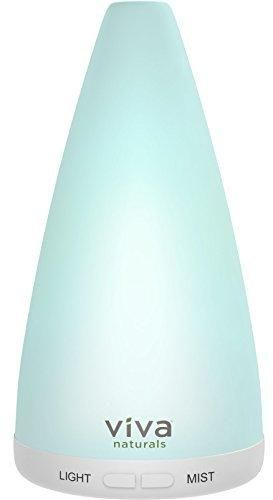 Viva Naturals Aromatherapy Essential Oil Diffuser - Vibrant Changeable LED Lights Soothing Mist & Oxygen Automatic Shut Off