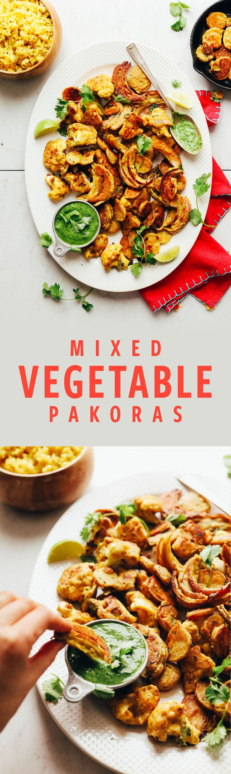 DELICIOUS Vegetable Pakoras in 30 minutes!
