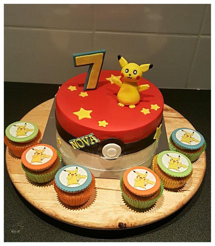 Pickachu Cake & Cupcakes
