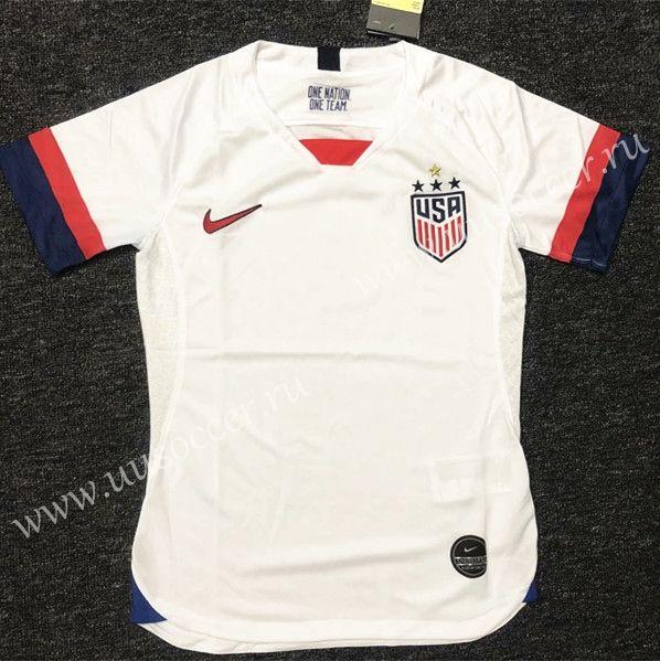 Download 4 Star 2019 2020 Usa Home White Female Thailand Soccer Jersey 510 Soccer Jersey Womens Soccer Soccer