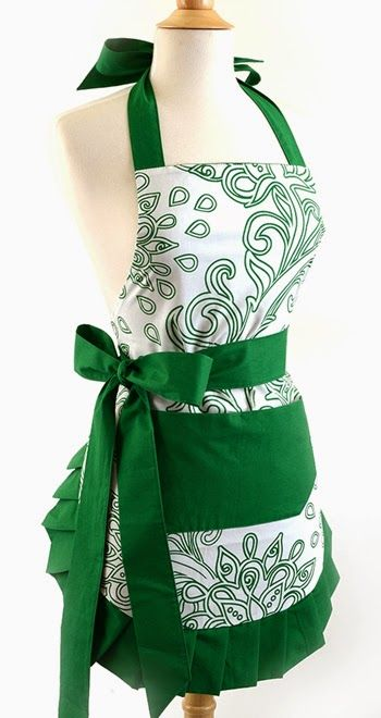6 HOT NEW Styles from Flirty Aprons ~ green goddess