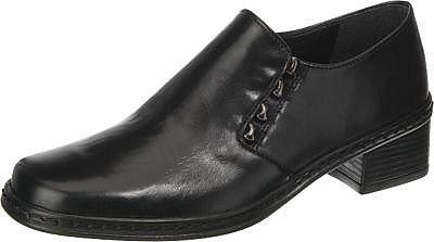 Laufen wie barfuß – mit den Gabor Halbschuhen. Die weiche Decksohle passt sich der Fußform an und sorgt damit für ein angenehmes Tragegefühl.  - glänzendes Echtleder - funkelnde Details - elastischer Anteil am Einstieg - profilierte Laufsohle - Verschluss: Schlupf - Absatzart: Block - Absatzhöhe: 3 cm - Schuh-Weite: F  Obermaterial: Leder (Glattleder) Futter: Sonstiges Material (Synthetik) Deck...