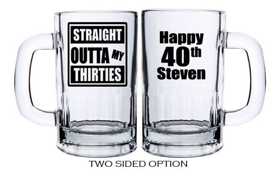 40th Birthday Glasses Birthday Gift Ideas by PersonalizedGiftsUS