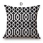 modern minimalist black and white decorative pillows geometric sofa cushions