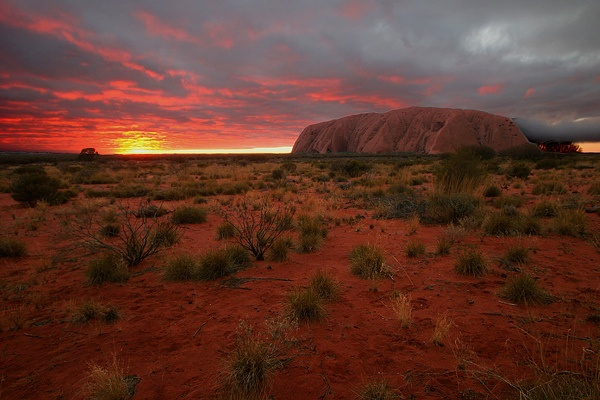 Ayers Rock at sunrise, Australia