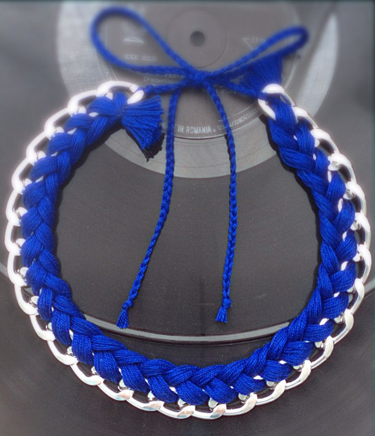 Royal Blue Braided Necklace