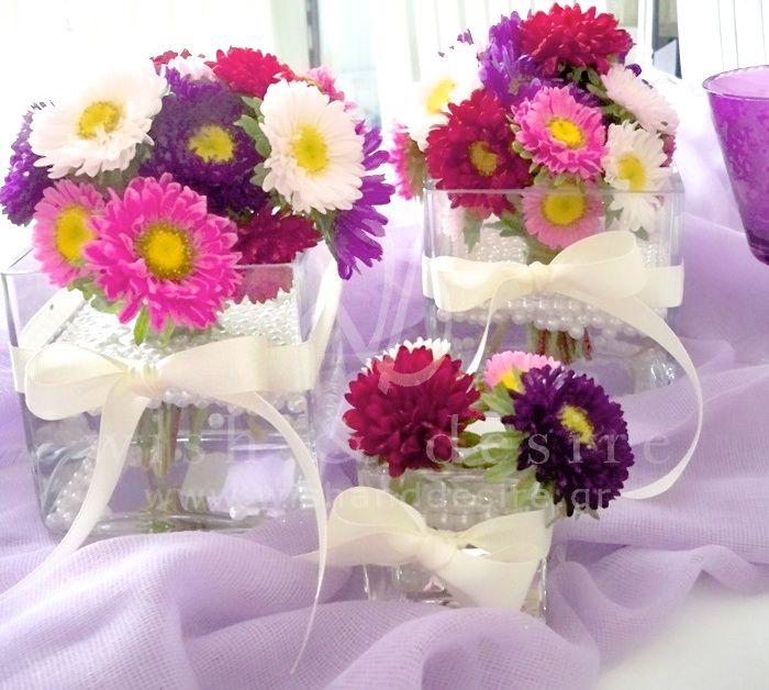 #γαμος στολισμος τραπεζιου με εντονα χρωματα